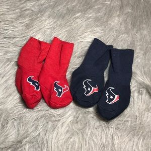 Newborn Houston Texans socks